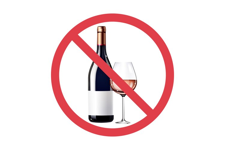 No rose wine realistic product vector design example image 1