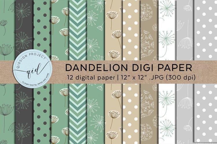 Dandelion Digital Pattern Paper