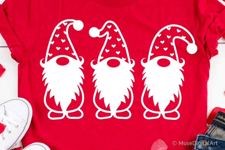 Valentines Day Svg, Valentines Gnomes Svg Files, Love Kids example image 1