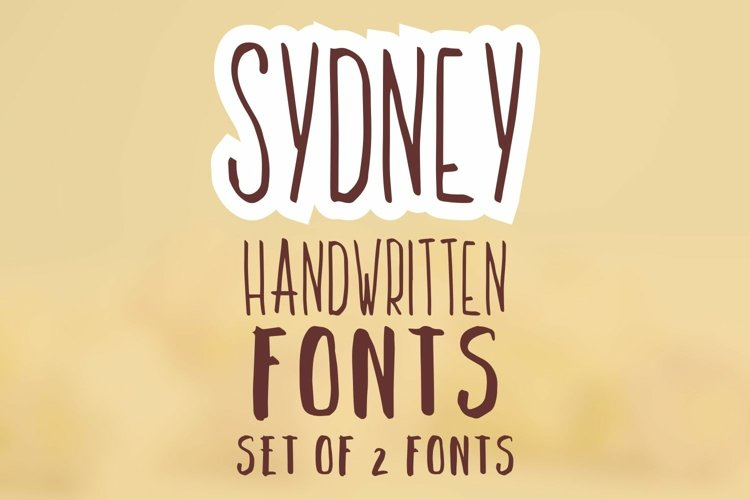 Sydney. Set of 2 handwritten fonts. example image 1