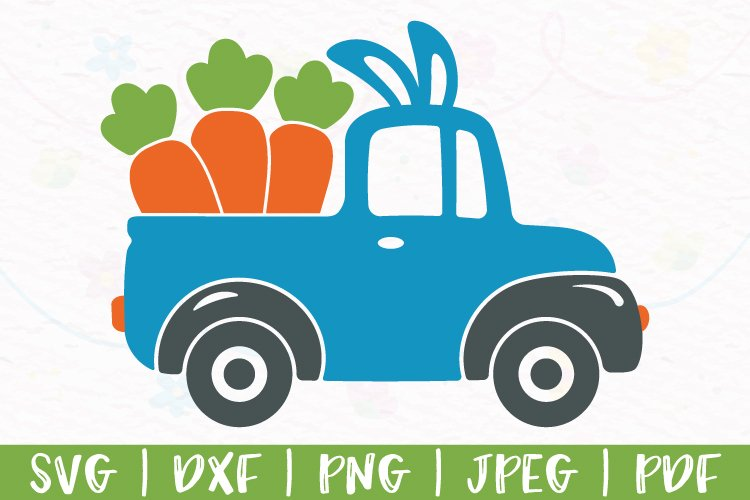Easter truck svg, Carrot truck svg, Bunny truck svg, png