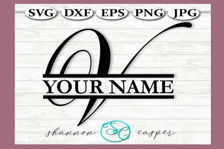 Split Monogram Letter V Single Letter File example image 1