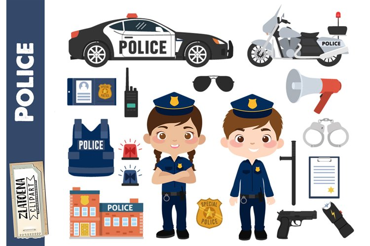 Little Police clip art Police Clipart Police Graphics