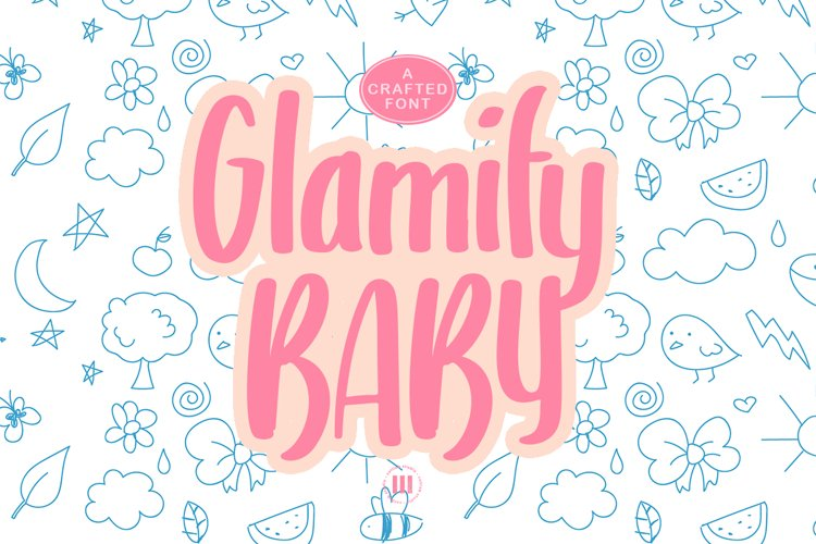 Glamify Baby - A Cute Crafted Font