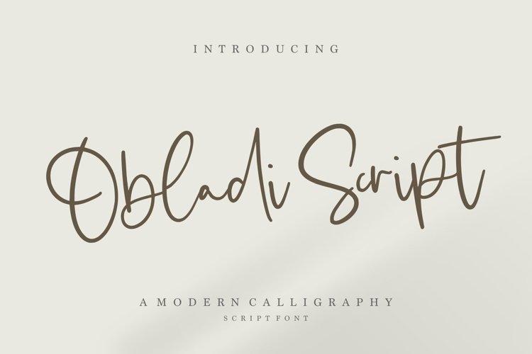 Obladi Script Modern Calligraphy Script Font example image 1