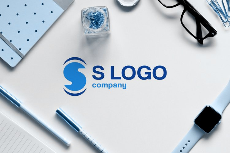 modern business company logo design of initial letter s