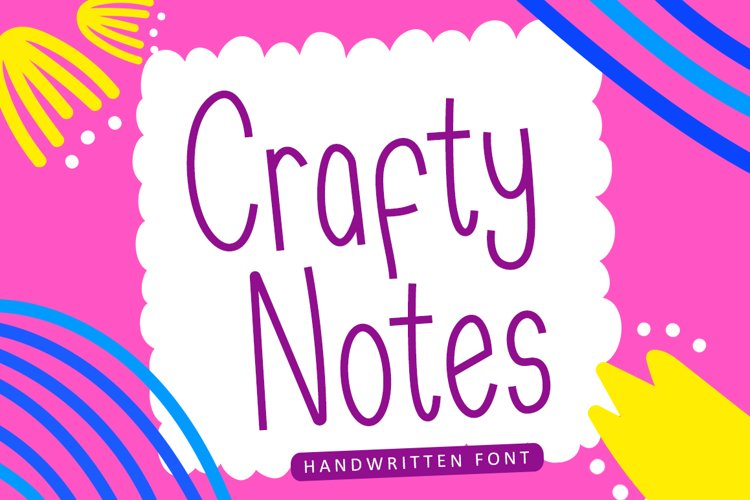 Crafty Notes - Simple Handwritten Font example image 1