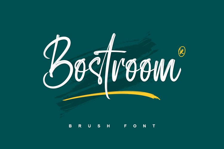 Bostroom - Brush Font example image 1