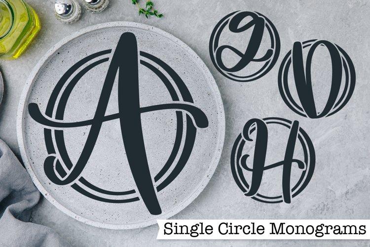 Single Circle Monograms - A-Z Letters