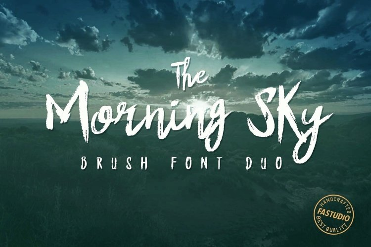 Web Font The Morning Sky Font Duo example image 1