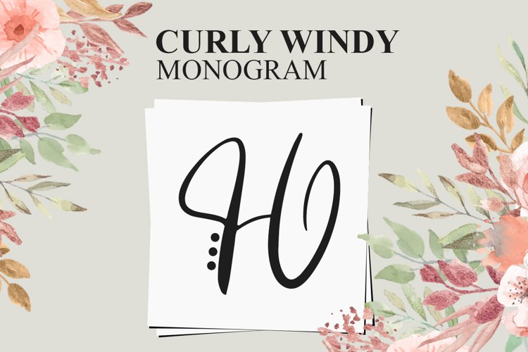 Curly Windy Monogram example image 1