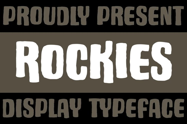 Rockies - Rough Font example image 1