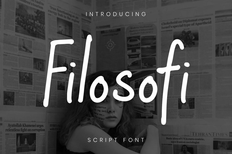 Web Font Filosofi Font example image 1