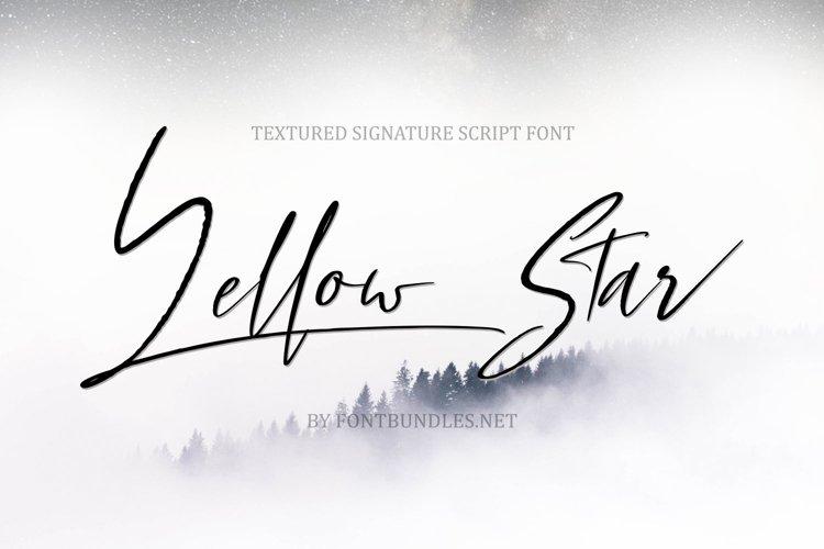 Web Font Yellow Star. Textured Signature Script Font example image 1