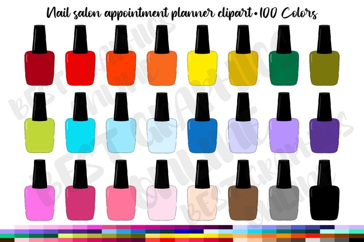 100 Nail polish clipart Manicure appointment planner sticker