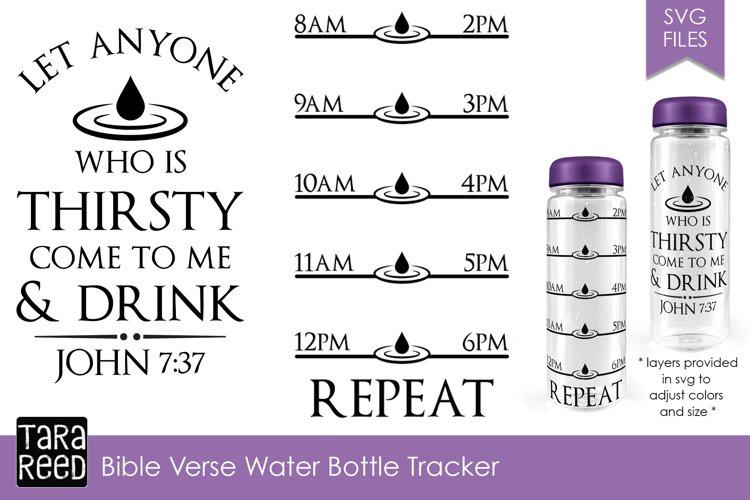 Bible Verse Water Bottle Tracker