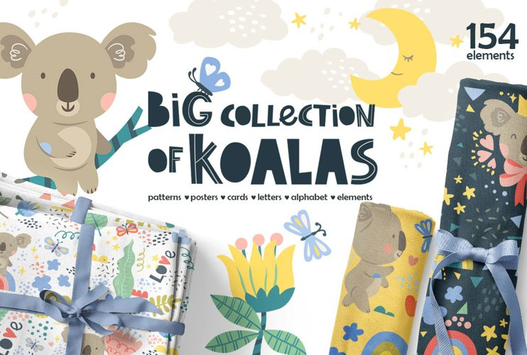 Big collection of koalas!