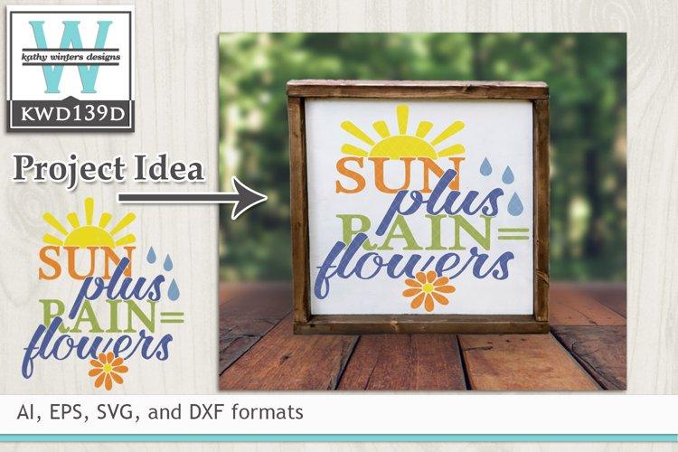 Gardening SVG - Sun Plus Rain