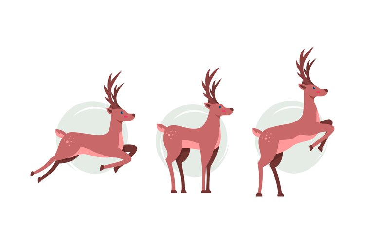 Reindeer Illustrations example image 1