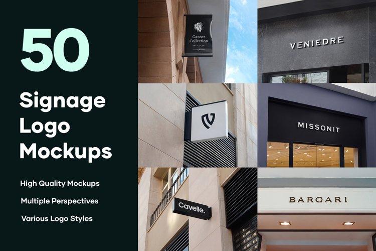 50 Signs & Facade Logo Mockups
