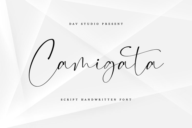 Camigata - Handwritten Font