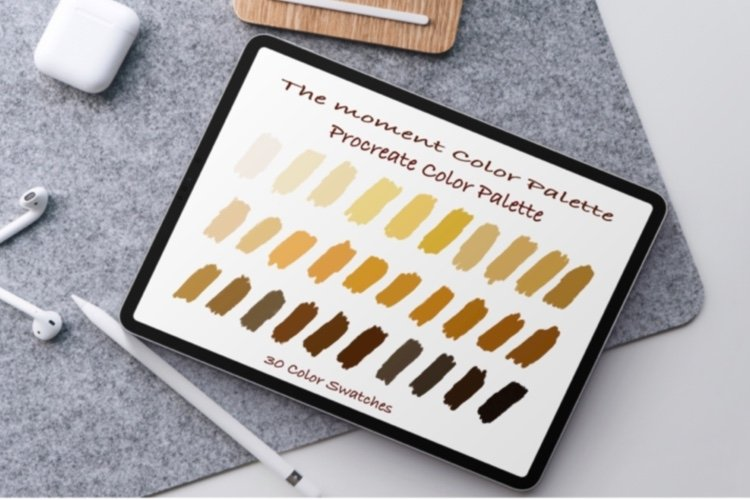 The Moment Color Palettes ,Procreate palettes example image 1