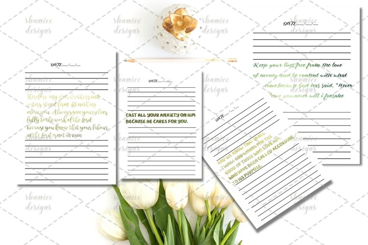 Bible study journal printable