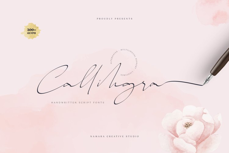 Callihgra Script Fonts example image 1