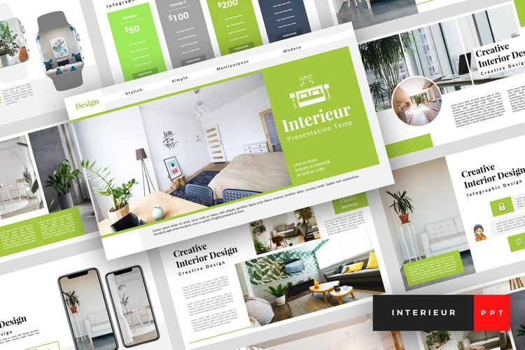 Interieur - Interior Design PowerPoint Template example image 1