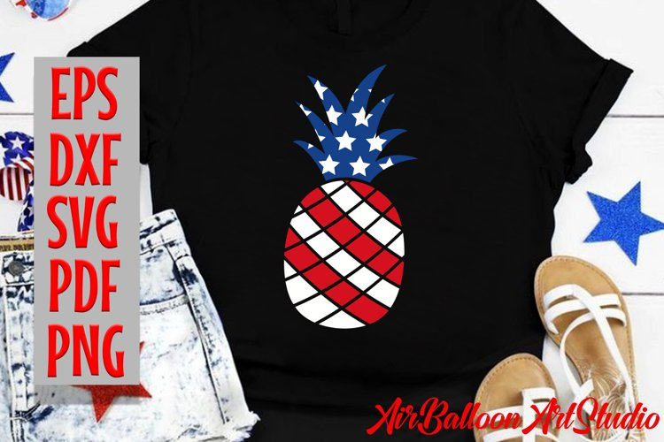 Pineapple SVG America Svg 4th of July Svg pineapple 4th of J