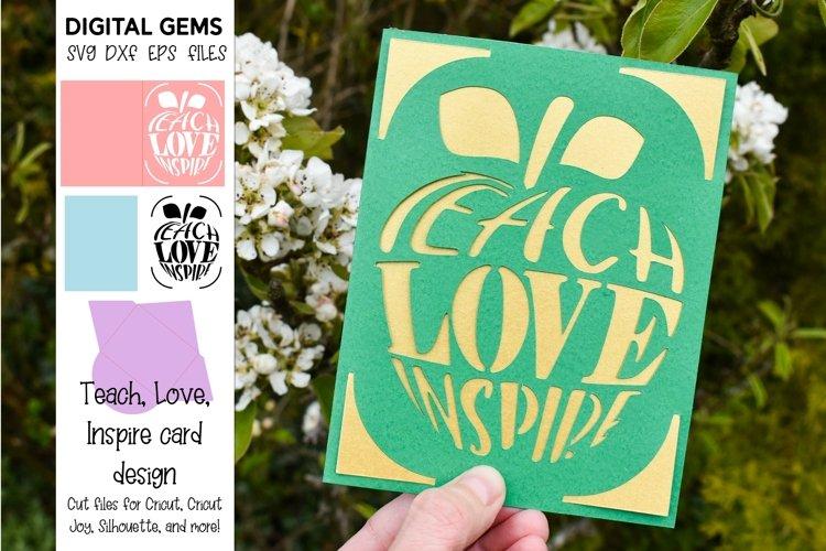 Cricut Joy Card! Teacher, Love, Inspire, Apple SVG!