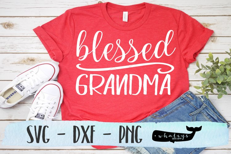 Blessed Grandma Silhouette and Cricut Cut File example image 1