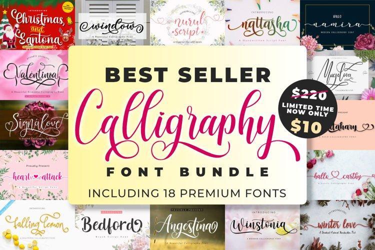 Best Seller Calligraphy Font Bundle