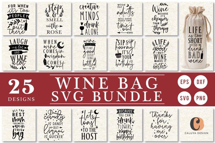 BIG Wine Bag Making SVG Cut File Bundle