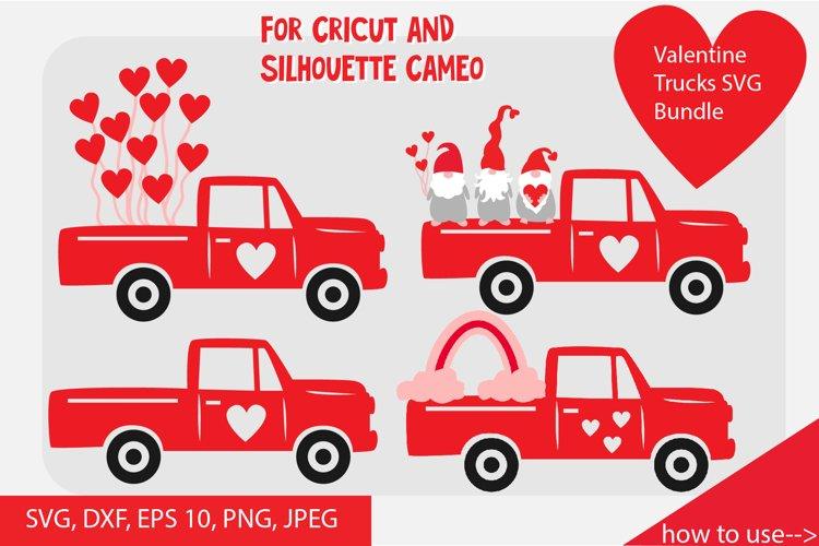 Valentine truck SVG cut files bundle