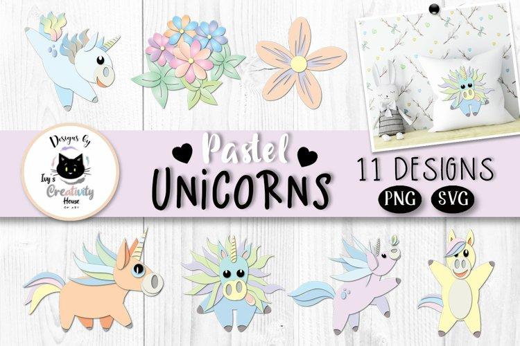 Rainbow Unicorn Clipart | Unicorn SVG Bundle example image 1