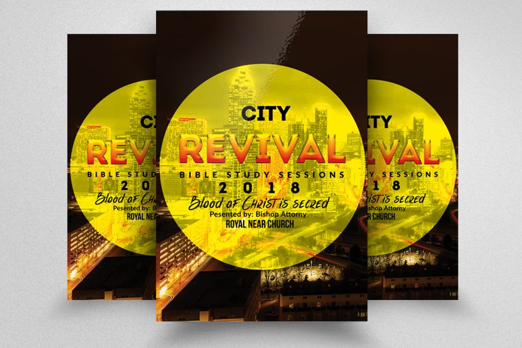 City Revival Church Flyer Template example image 1