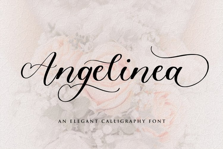 Angelinea Elegant Calligraphy Font example image 1