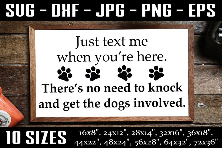 Funny Dog Sign, Dog House Sign, Dog Horizontal Sign SVG PNG example image 1