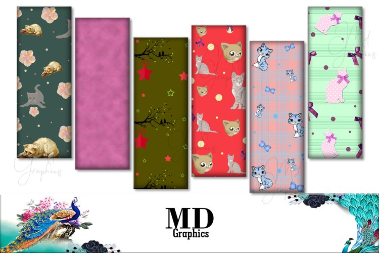 Cats Bookmarks, Cat Digital Images, Cats Digital Cards, Cats example image 1