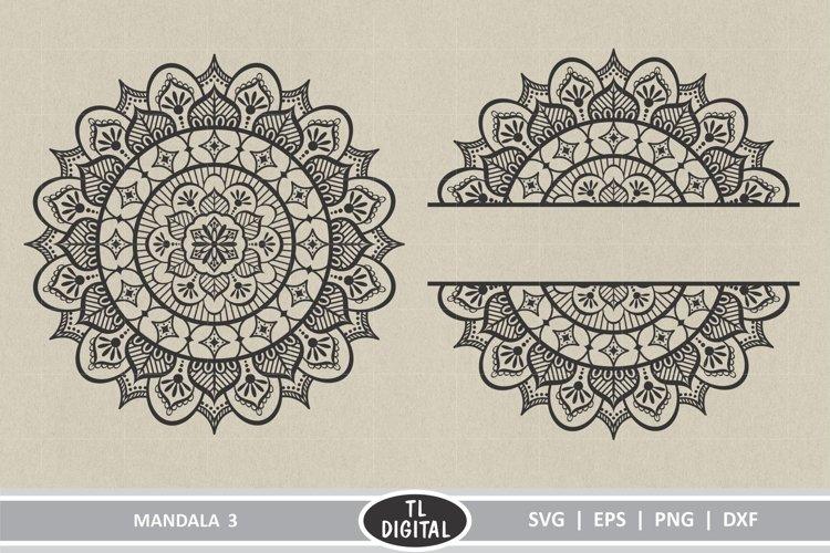 Mandala Design 3 - Boho Graphic - SVG | EPS | PNG | DXF example image 1