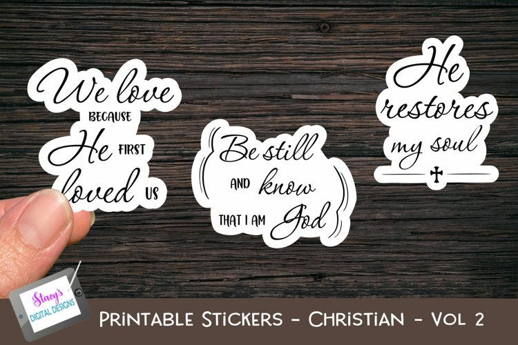 Printable Stickers - Christian Bible Verses - Vol. 2 - PNG example image 1