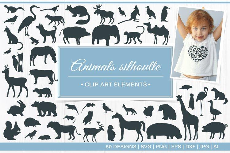 Animal Silhouettes Mega Bundle - SVG DXF PNG EPS JPG PDF Cut