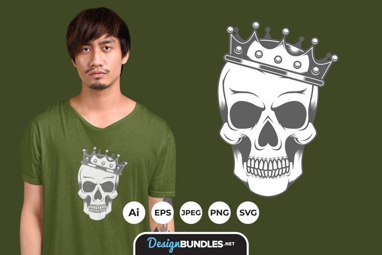 Skull Crown Illustrations for T-Shirt Design