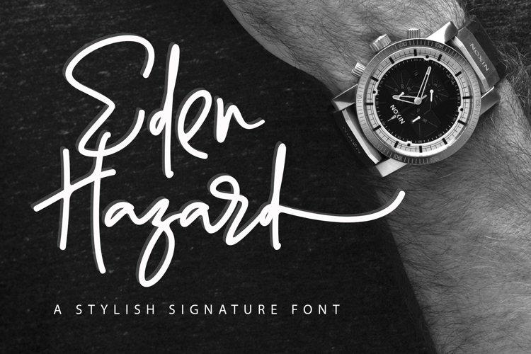Eden Hazard - A Stylish Signature Font example image 1