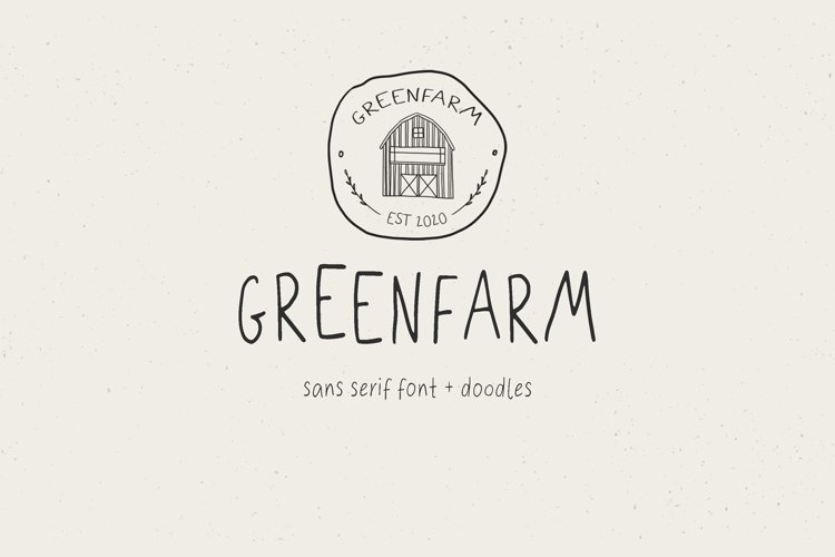 Greenfarm. Rustic Sans Serif font| Dooldles | 12 Logos example image 1