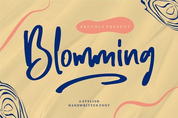Blomming - A Stylish Handwritten Font