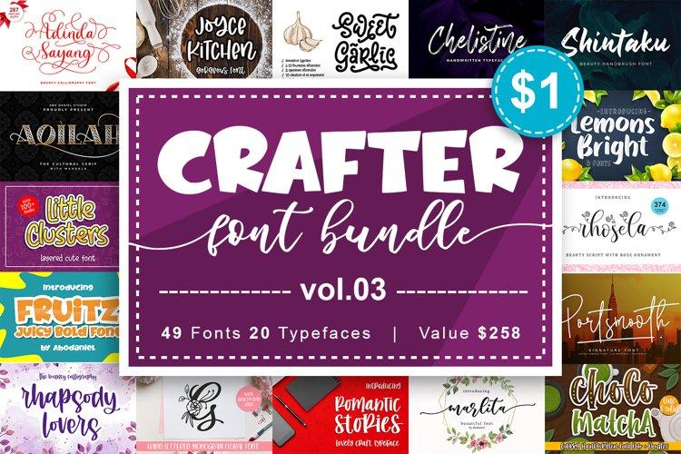 Crafter Font Bundle Vol. 3 example image 1