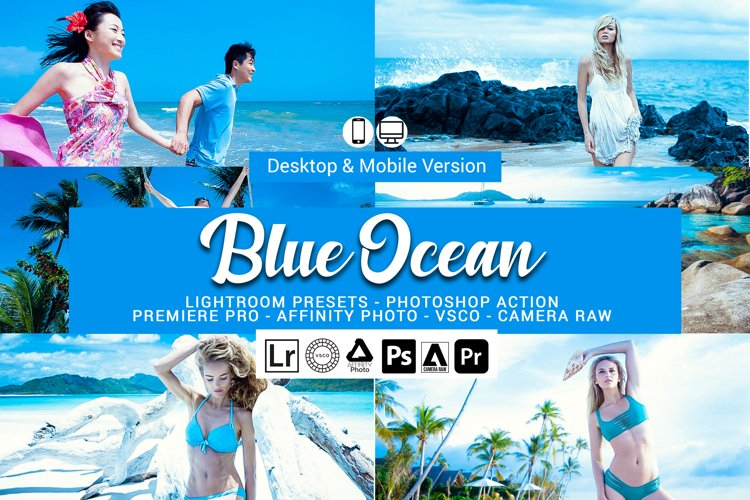 Blue Ocean Presets,Photoshop actions,LUTS,VSCO example image 1