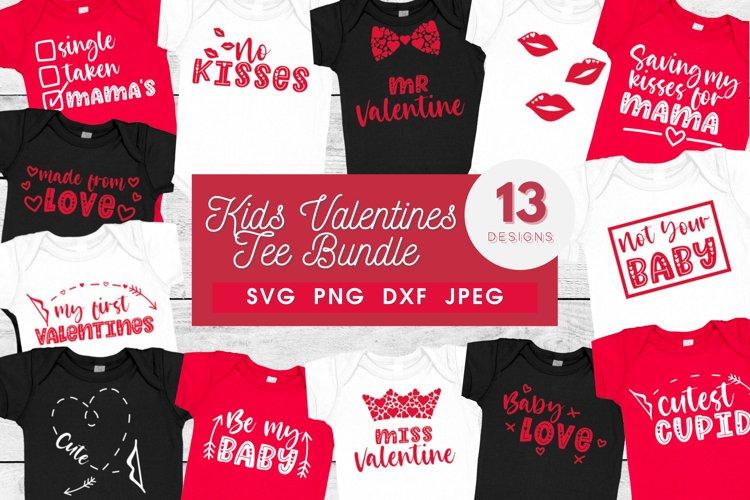 Kids valentines bundle | baby shirt svg bundle | first vday